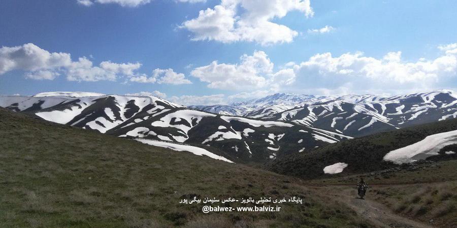 طبیعت کوهستانی مهاباد در بهار