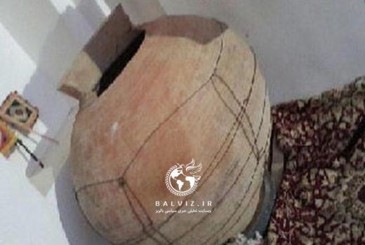 خمره سفالی تاریخی در مهاباد