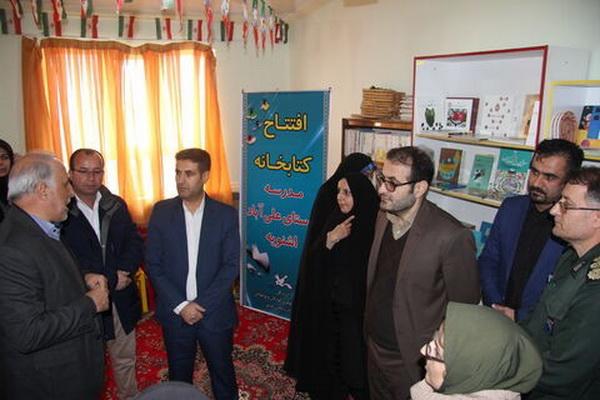"""کتابخانه مدرسه روستای علی آباد """" اشنویه """" افتتاح شد"""