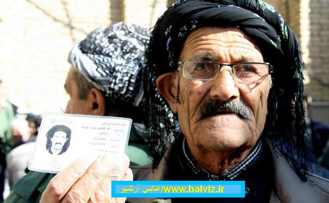 تجلی و حماسه مردم مهاباد در پای صندوق های رای همزمان با سراسر کشور