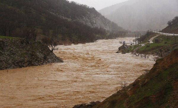 احتمال سیلابی شدن رودخانههای آذربایجانغربی از روز پنجشنبه