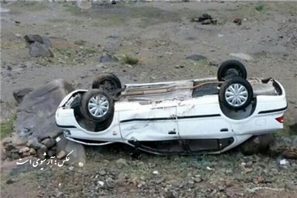 واژگونی خودروی سواری در سردشت 7فوتی و مصدوم برجا گذاشت