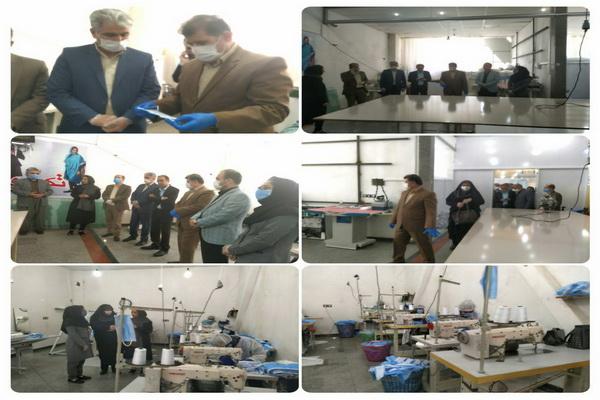 کارگاه تولید ماسک سه لایه در شهرستان پیرانشهر به بهره برداری رسید