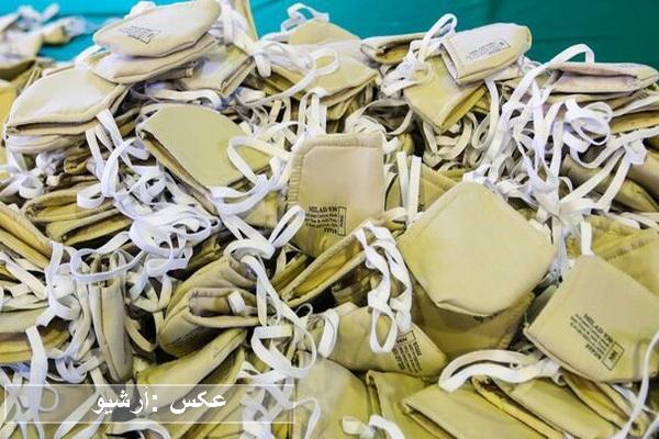 هفت هزار عدد ماسک سه لایه فیلتردار در مریوان کشف شد