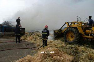 """آتش سوزی در روستای """"اگریقاش """" مهاباد موجب خسارت مالی شد"""