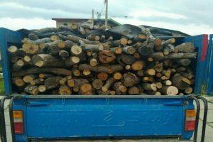 کامیون حامل چوب قاچاق در سقز متوقف شد