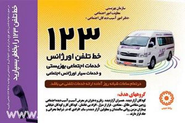 نشانی مراکز اورژانس اجتماعی ۱۲۳ کشور ایران
