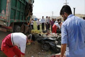 مرگ چهار عضو یک خانواده در تصادف محور بوکان - میاندوآب