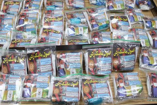 بسته های بهداشتی و پیشگیری از ویروس کرونا در اداره زندان مهاباد توزیع شد
