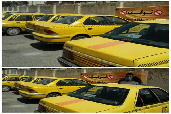 توقیف 10دستگاه راننده تاکسی فاقد ماسک