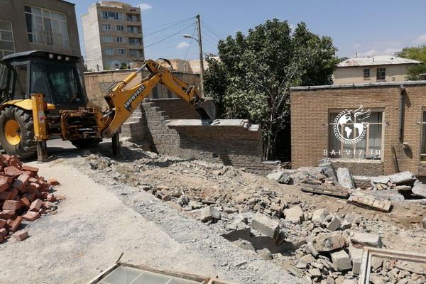 ساخت و ساز حریم حوضخانه شاه درویش مهاباد رفع تصرف شد