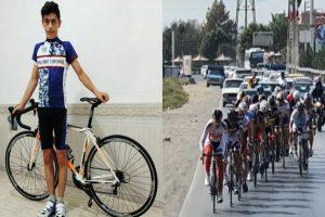 دوچرخه سوار جوان مهابادی در رقابتهای قهرمانی استان سوم شد