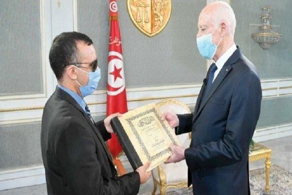 یک نابینا در تونس وزیر شد