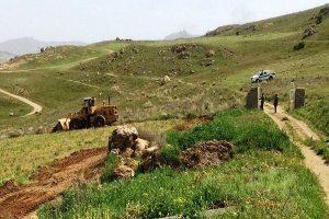 اراضی ملی بالا دستی روستاهای قاضی آباد در مهاباد رفع تصرف شد