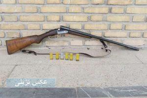 قاچاقچی اسلحه شکاری در مهاباد دستگیر شد