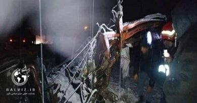 واژگونی کامیون تریلی در محور بوکان مهاباد ۲ کشته بر جای گذاشت
