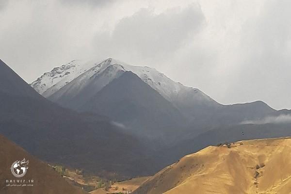 ارتفاعات اشنویه با اولین بارش پاییزی سفید پوش شد
