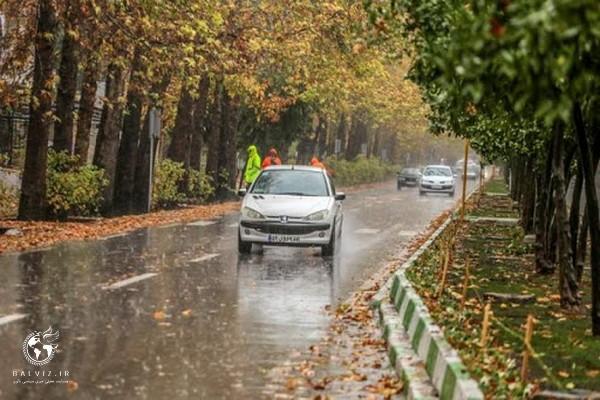 بارش باران برخی نقاط کردستان را فرا میگیرد