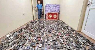 تک عکس /بزرگترین کلکسیون گوشی در دنیا