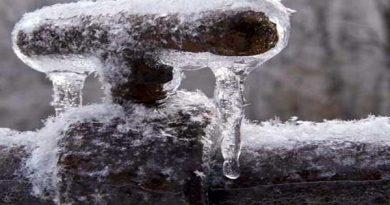 مشترکین آب در مهاباد مراقب یخ زدگی کنتور و تاسیسات آبرسانی باشند