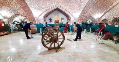 پاكسازی محوطههای تاریخی مهاباد
