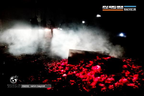 عکس/آیین مراسم چهارشنبه سوری در مهاباد 1