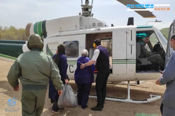 مادر باردار سردشتی توسط امداد هوایی به ارومیه اعزام شد