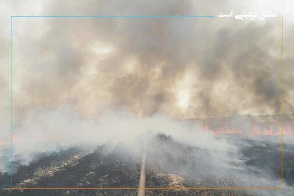 مصدومیت آتش نشان مهابادی در پی مهار آتش سوزی