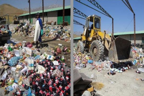 معدوم سازی ۲ تن مواد غذایی فاسد در پیرانشهر