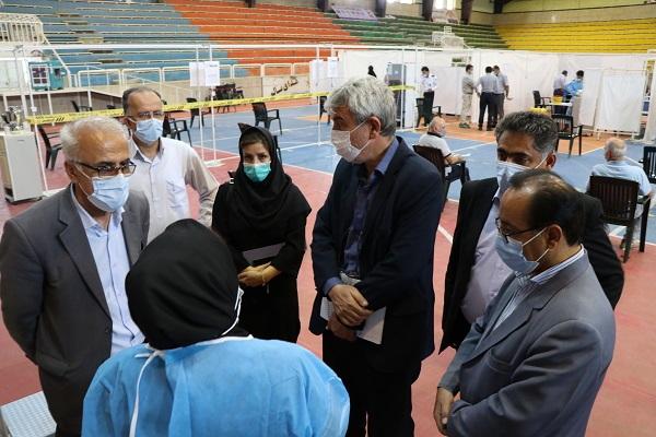 پایش و بازدید از پایگاه های تجمیعی واکسیناسیون مهاباد